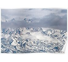 Snowstorm In The Organ Mountains Poster