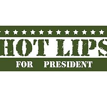 For President Hot Lips by ImagineThatNYC