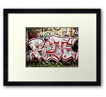 Graffiti Street Art Framed Print