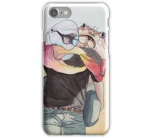 Sun Lovers - Dolphin and Crab at the Beach iPhone Case/Skin