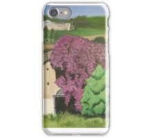 Rural Italian landscape painting iPhone Case/Skin