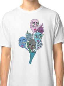 Ghostly Figures and Flowers 1 Classic T-Shirt