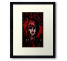 Into The Red Forest Framed Print