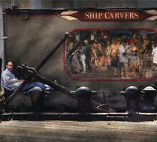 City - South Street Seaport, NY - Ship Carvers by Mike  Savad