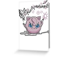 Jiggly-Puff Tagging Tees Greeting Card