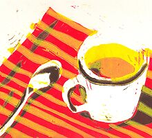 Coffee cup with spoon by Miles Histand