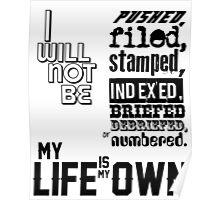 My Life Is My Own Poster