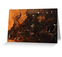 Music Of The Night- Abstract  Art & Products Design  Greeting Card