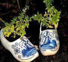 Dutch Shoes Planter by Rosalie Scanlon