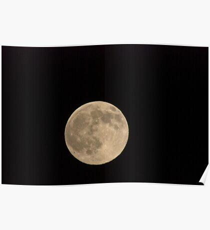 December Moon Over Missoula Poster