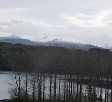 Snow Clouds over Menai Wales by leunig