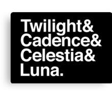 Equestrian Princess Helvetica List Canvas Print