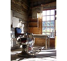 barber chair Photographic Print