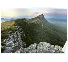Sentinel Peak guards the Twilight, Grampians, Australia Poster