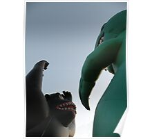 a battle of giants, kong-vs-'zilla Poster