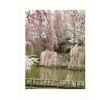 Spring in the Japanese Garden Art Print