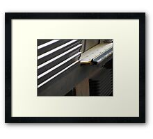 Above and Below the Line Framed Print