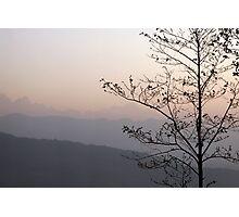 Sunrise in Nepal Photographic Print