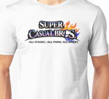 Super Casual Bros: All Stages All Items All Modes Unisex T-Shirt