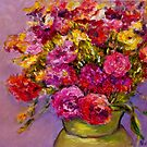 Theda's Flowers  by Bob Abrahams