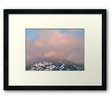 Mountain Crown - Sunset Reflected Framed Print