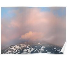Mountain Crown - Sunset Reflected Poster