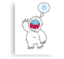 Snow Monster Canvas Print
