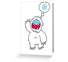 Snow Monster Greeting Card