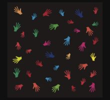 Colorful Hands, abstract Baby Tee
