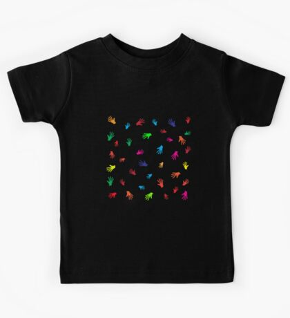 Colorful Hands, abstract Kids Tee