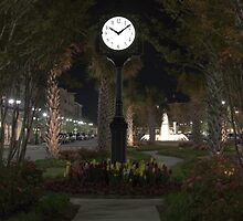 Clock at Market Common by eegibson