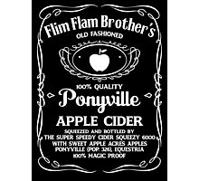 Flim Flam Brother's Old Fashioned Ponyville Apple Cider Photographic Print