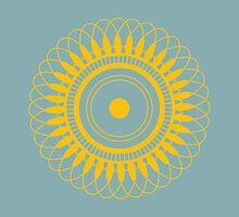 Intricate Yellow Mandala by hidinart