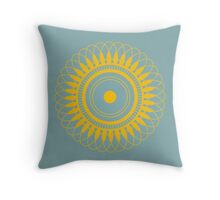 Intricate Yellow Mandala Throw Pillow