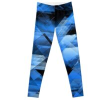 Abstract geometric blue Leggings
