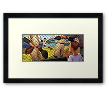 A Boy in the Bullpen Framed Print