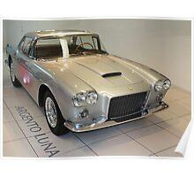 Silver Ferrari 400 Superamerica 1959 (Argento Luna), Maranello, Italy Poster