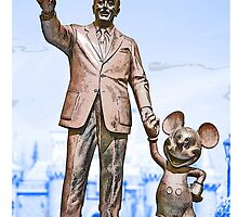 Walt and Mickey iPhone Cases and Skins Blue by kellyblackie