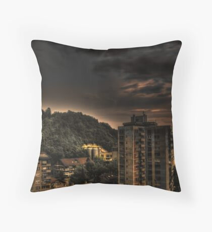 Hdr of old building Throw Pillow