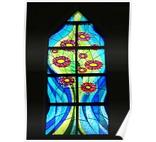 A Window of Drouin Anglican Christ Church, Gippsland Poster