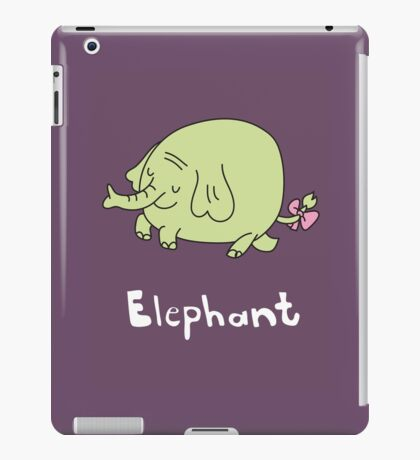 E for Elephant iPad Case/Skin