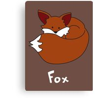 F for Fox Canvas Print