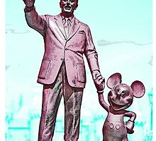 Walt and Mickey iPhone Cases and Skins Aqua by kellyblackie