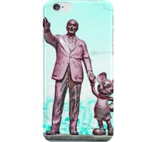 Walt and Mickey iPhone Cases and Skins Aqua iPhone Case/Skin