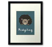 H for Hedgehog Framed Print
