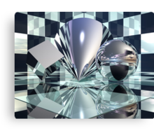 Cube Cone Sphere Canvas Print