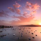 Sunset over Pittwater by Harley Kingston