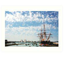 HMS Warrior Art Print