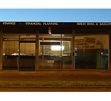 Financial Planning Photographic Print