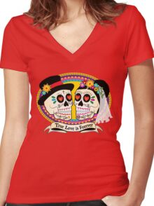 Los Novios (English) Women's Fitted V-Neck T-Shirt